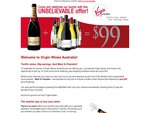 Virgin Wines Australia Launch - FREE Moet & Chandon Offer! - $99 Spend + Shipping