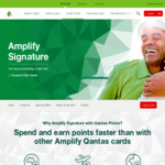 Amplify Signature Credit Card 90k Qantas Points/$5k Spend/90 Days 2 Lounge Passes $279/Year @ St George/Bank of Melb/Bank SA