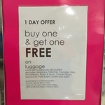 Buy One Get One Free Luggage @ Myer