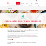 Free 1000 Qantas Frequent Flyer Points after First Order on Deliveroo + 200 Points after 4 Orders in a Month