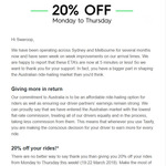 [NSW/VIC] 20% off Rides @ Taxify