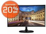 """Samsung C24F390FHE 24"""" LED LCD Curved Monitor 1920x1080 - $182.80 Delivered @ Shopping Express eBay"""