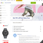 eBay 75% off Final Value Fees on up to 10 items