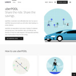 [NSW] 3x Free uberPOOL Rides in Selected Sydney Areas with Uber (up to $40 off/Trip) [5am to 11.59pm Daily]