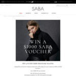 Win 1 of 3 $1,000 Gift Vouchers from SABA