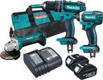 $399 Makita X3 Cordless Kit. Hammer-Drill, Impact & Angle 3AH Batts with Tote @ Bunnings