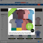 Pierre Cardin Mens T-Shirts 3 for $18AUD + $1.99 Delivery @ SportsDirect