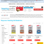 5% off Rayovac Hearing Aid Batteries