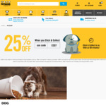 25% off Click & Collect Orders @ Petbarn