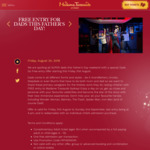 [NSW] Free Entry for Dads to Madame Tussauds Sydney When Accompanied by a Full Paying Adult or Child (Friday 31/8-Sunday 2/9)