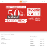 [WA] 50% off Everything in Store @ Furniture Bazaar (Midland Store Only)