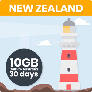 20% off - New Zealand Travel SIM Card with 10GB Data + Calls