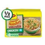 ½ Price Maggi 2 Minute Noodles Varieties (Including Mi Goreng) 5 Pk $1.97 @ Woolworths
