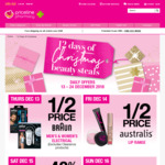 12 Days of Christmas 1/2 Price Braun Australis Andalou, 40% off Aveeno Dermaveen Essano Burts Bees (1 Offer/Day) @ Priceline