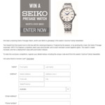 Win a SEIKO Presage Watch Worth $825 from Seven Network