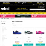 25% off adidas Kids Football/Soccer Boots @ rebel