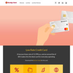 Bendigo Bank Low Rate Credit Card - $250 Cashback - $45 Annual Fee (Spend $1500 in 90 Days)
