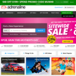 Adrenaline Australia $40 off When You Spend $199+ (ShopBack Increased to 10% According to My Email)