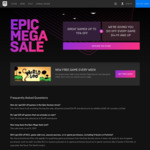 [PC] Epic Mega Sale - $10US off Any Game Priced $14.99US or More (Includes Sale Items) - Epic Store