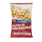 200g Bags of Australian Salted Macadamias $4 @ Coles (Selected Stores, Normally $8.50)