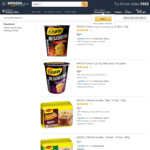 1/2 Price Maggi 2 Minute Noodles Cup $0.90 + Delivery (Free with Prime/$39 Spend) @ Amazon AU and Coles