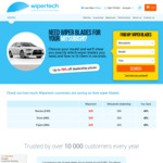 Wipertech Aeroflex Wiper Blades for Mitsubishi Cars (Front Pair) $25 Delivered - Wipertech.com.au