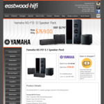 Yamaha NS-F51 Surround Sound 5.1 Speaker Pack $769 (Was $1747) + Free Shipping Most Areas or Pickup @ Eastwood Hifi Sydney