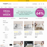 64% off Mille 1000 Thread Count Range of Cotton Sheets ($109.99 + Postage King Sheet Set) @ Canningvale