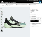 Harden Vol. 4 Basketball Shoes $140 Delivered @ adidas