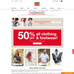 50% off Clothing & Footwear (Excludes Clearance/Socks/Underwear/Accessories) @ Rivers Australia