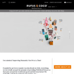 $10 off All Orders (No Minimum Spend) + Delivery @ Rufus & Coco Pet Products