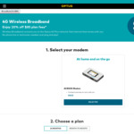 20% off Optus Mobile Broadband 500GB $68/Month (Month-to-Month)
