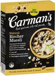 Carman's Muesli Natural Bircher 500g $4 ($3.60 with Subscribe and Save) + Delivery ($0 with Prime/ $39 Spend) @ Amazon AU
