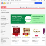 [eBay Plus] $15 off $100 Spend | [Non eBay Plus] $10 off $100 Spend @ Coles eBay