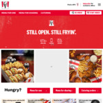 3 Nugget & Chips Go Bucket $2.50 @ KFC [APP ONLY]