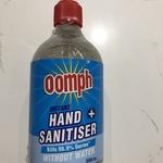 Oomph Instant Hand Sanitiser 500ml $6.95 @ Bunnings