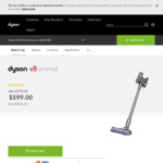 Dyson V8 Animal Stick Vacuum Cleaner $599 Delivered (Was $799) @ Dyson Australia