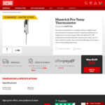 Maverick Pro-Temp Thermometer Instant Read MAVPT100 $69 C&C (Was $149) @ Barbeques Galore