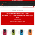 Up to 24% Off Six String Brewing Co. Cases @ Craft Cartel Liquor