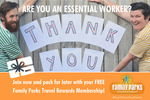 Free Membership for Essential Workers @ Family Parks