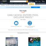 [Prime] Amazon First Reads - Early Access + Choose 1 of The 8 Kindle Books for August 2020 for Free