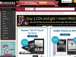 Borders Voucher - 20% off Books, CDs and Calendars (Online Store) + Free Shipping