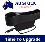Car Organiser USB Charging Seat Gap Cup Holder $15.99 Delivered @ Auloofilters via eBay
