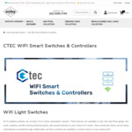 Ctec Smart Wi-fi 1,2,3 Gang /Curtain/ Mirror Switches from $99 (with -10% Coupon) + Free Express Delivery @ Lectory.com.au