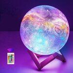 10% Moon Lamp, 16 Colors 7.1 Inch 3D Print LED Galaxy Moon Light $35.09 Delivered @ THOUSANDSHORES via Amazon AU