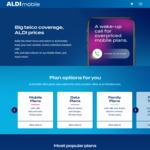 Increased Data on Prepaid Plans - $25 20GB, $35 40GB, $45 55GB, Family 80GB @ ALDImobile