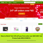 14% off Orders over US$60 (~A$78) + Delivery ($0 with US$40 (~A$52) Spend) @ iHerb