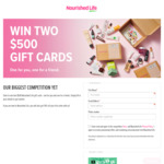 Win 2 x  $500 Gift Voucher with Nourished Life