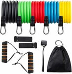 Ozpedite Resistance Band Set with 5 Bands & Accessories $8 + Delivery ($0 with Prime/$39 Spend) @ Amazon AU