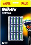Gillette Fusion5 ProGlide Blades Refill 12 Pack $39.99 + Delivery ($0 C&C/ $50 Spend) @ Shaver Shop
